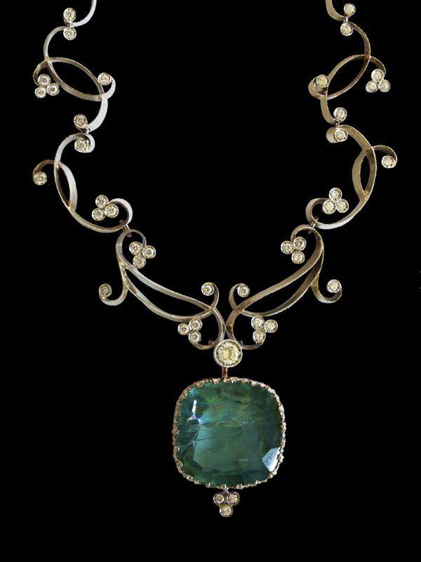italian fine jewelry, alta gioielleria artigianale.diamonds aquamarine bracelet - gioielli dalben - #jewelry #bracelet #diamonds