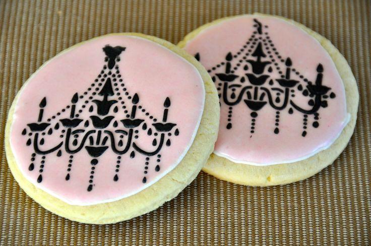 Chandelier Cookies Pink & Black