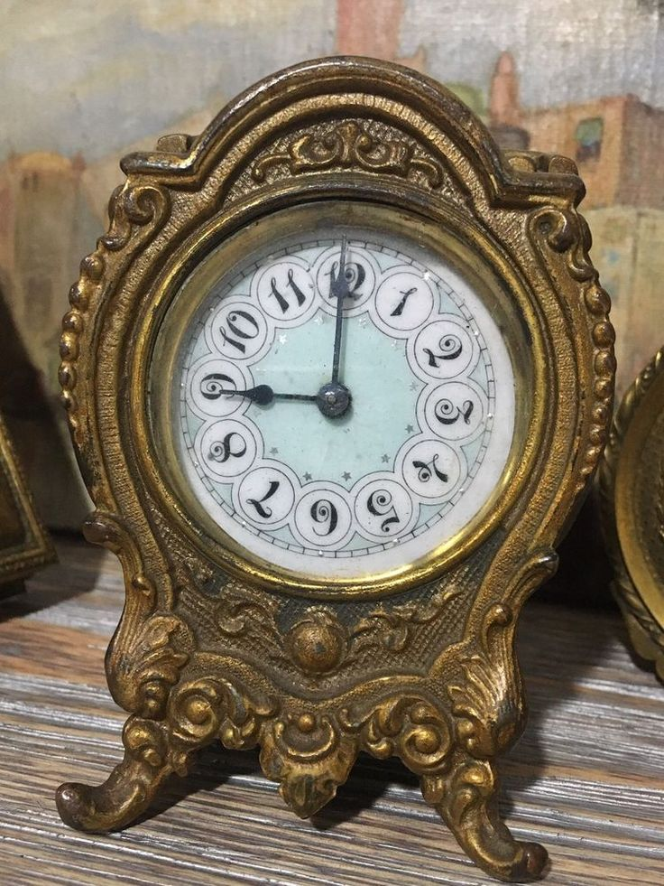 Antique small Shelf Ansonia Clock. Runs But Stops. So it will need service/adjustment. It runs but runs slow and stops so it needs shaking once in a while so it's not ready to go and will need service. | eBay!