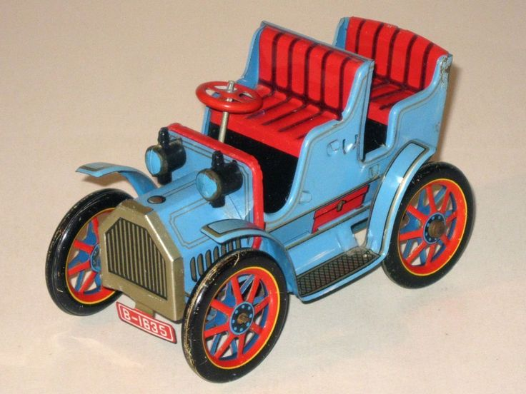 Vintage MASUDAYA Toys (Japan) Tin Litho Friction Car Antique Auto! (Modern Toys) | eBay