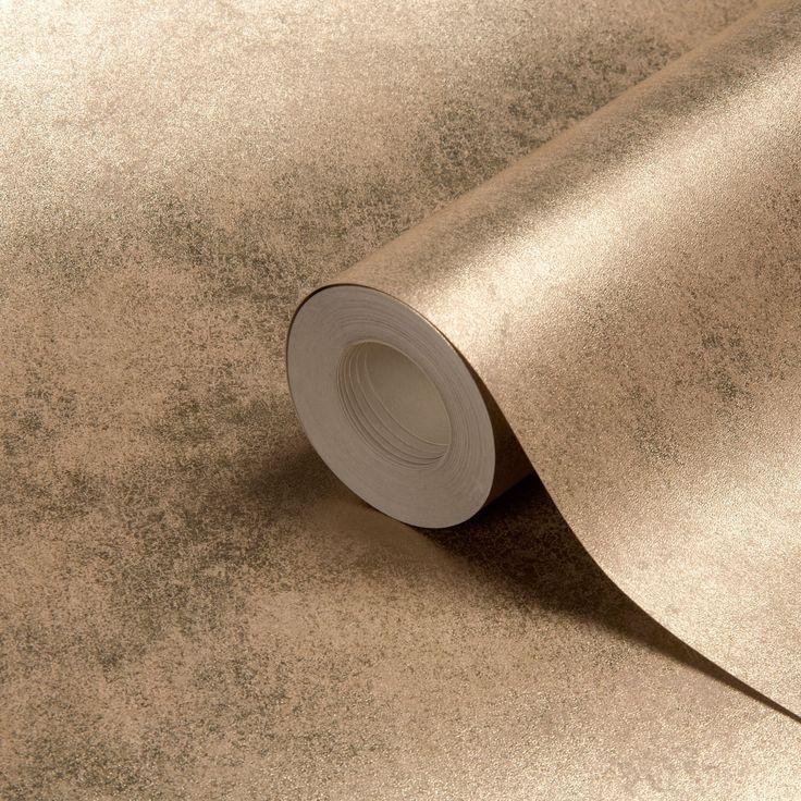 Muriva Foil Texture Gold Effect Wallpaper   Departments   DIY at B&Q