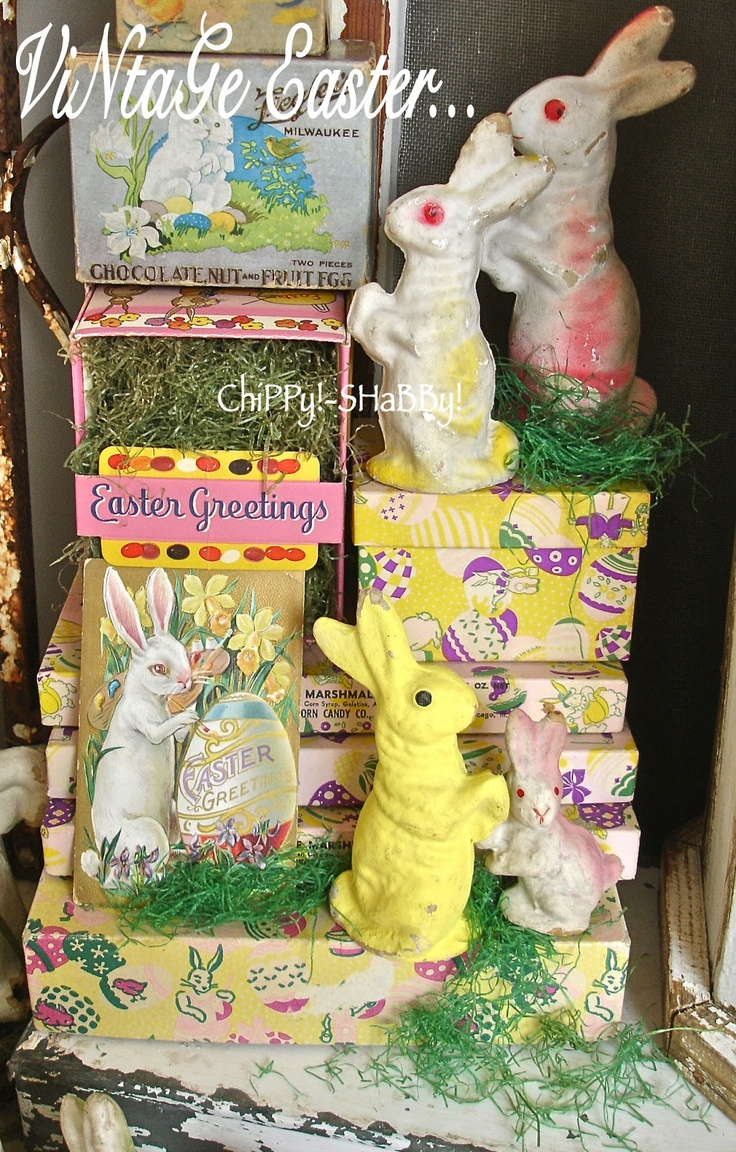 VINTAGE Easter Candy Boxes...