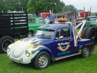 VW Beetle towtruck