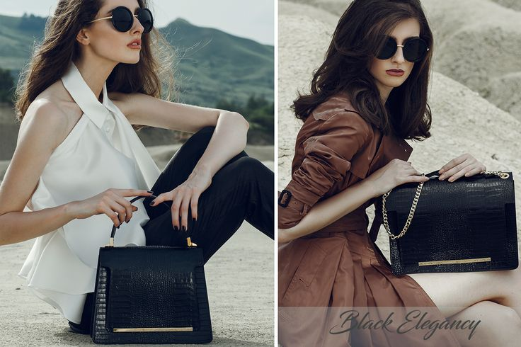 Be elegant and sophisticated with Kelly and Lauren Leather Bags with croco effect@Wild Inga.