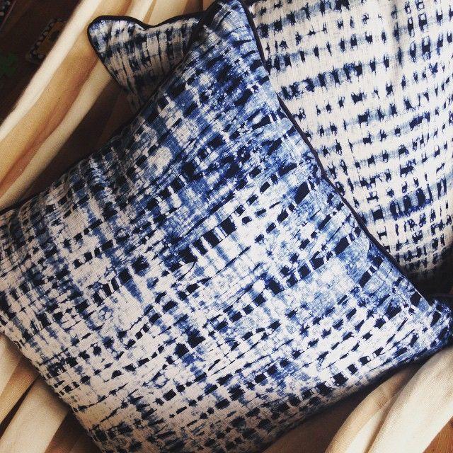 Indigo Bluefields: indigo dyed shibori cushions