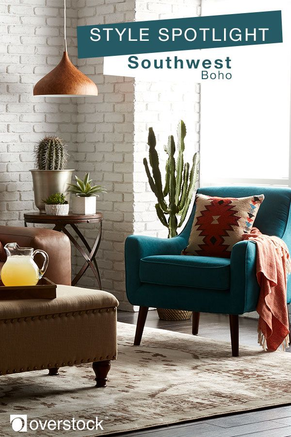 Add southwestern vibes with bohemian-inspired details to your living space. Shop Overstock to create a boho living space to show off your offbeat spirit!