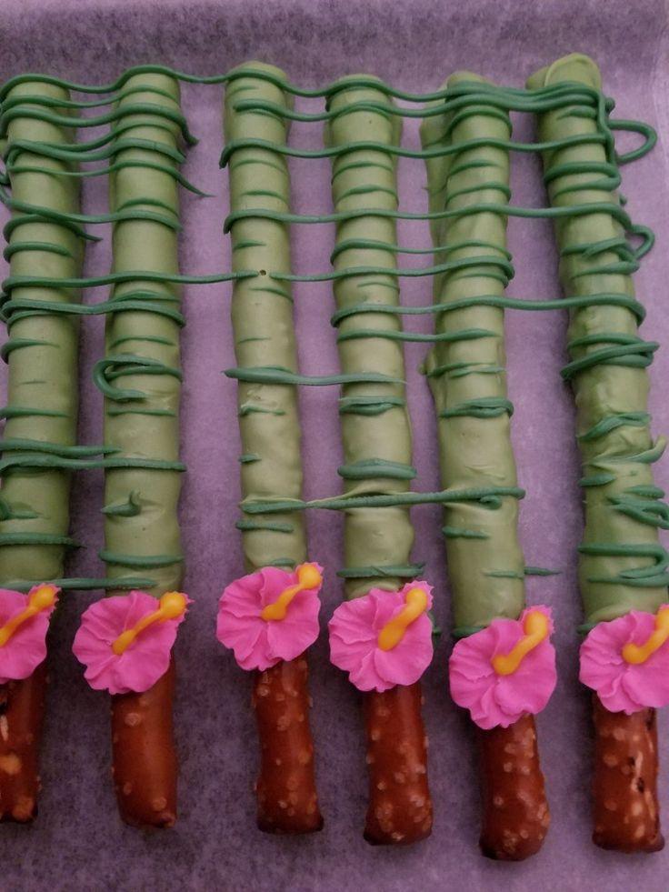 Hawaiian theme pretzels.