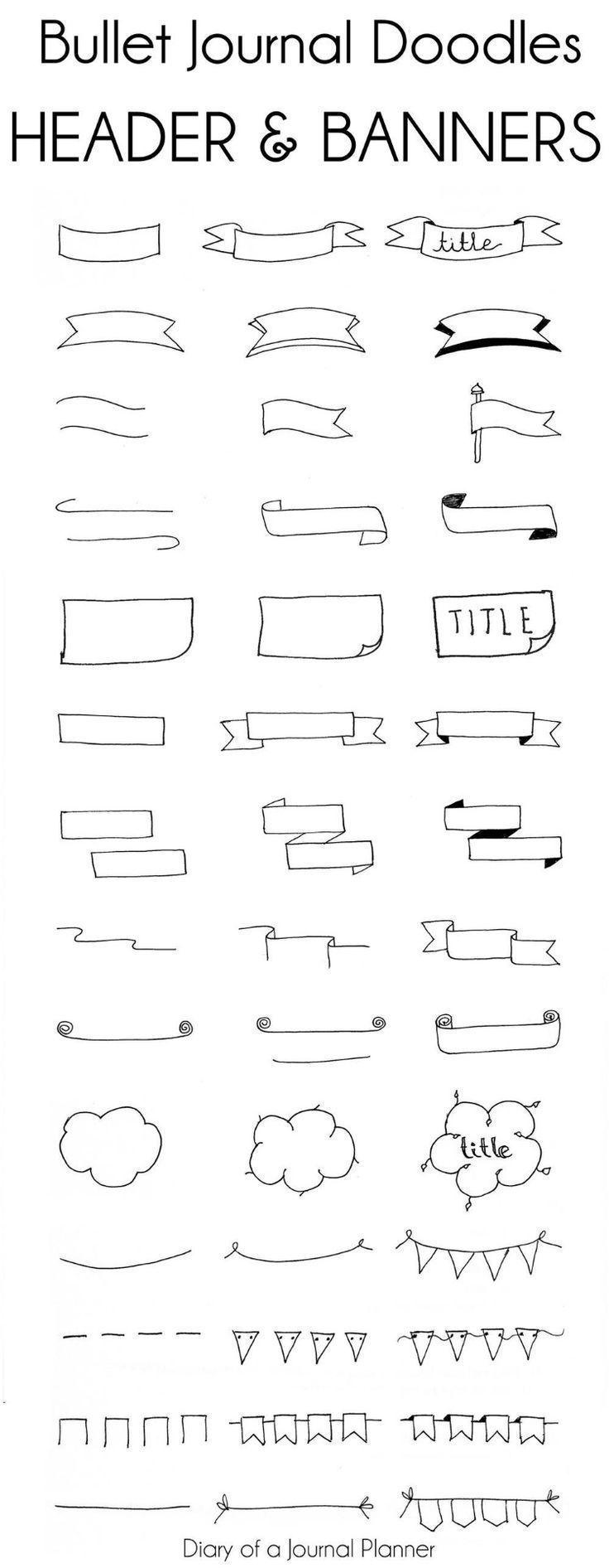 Einfache Überschriften und Banner für Bullet-Journale (15 Tutorials, denen jeder folgen kann) Überschriften für Bullet-Journale sind eine großartige Möglichkeit, Ihren Bujo-Planer-Seiten Glanz zu verleihen …