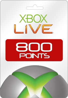 Buy Xbox 360 Live 800 Microsoft Points [USA]