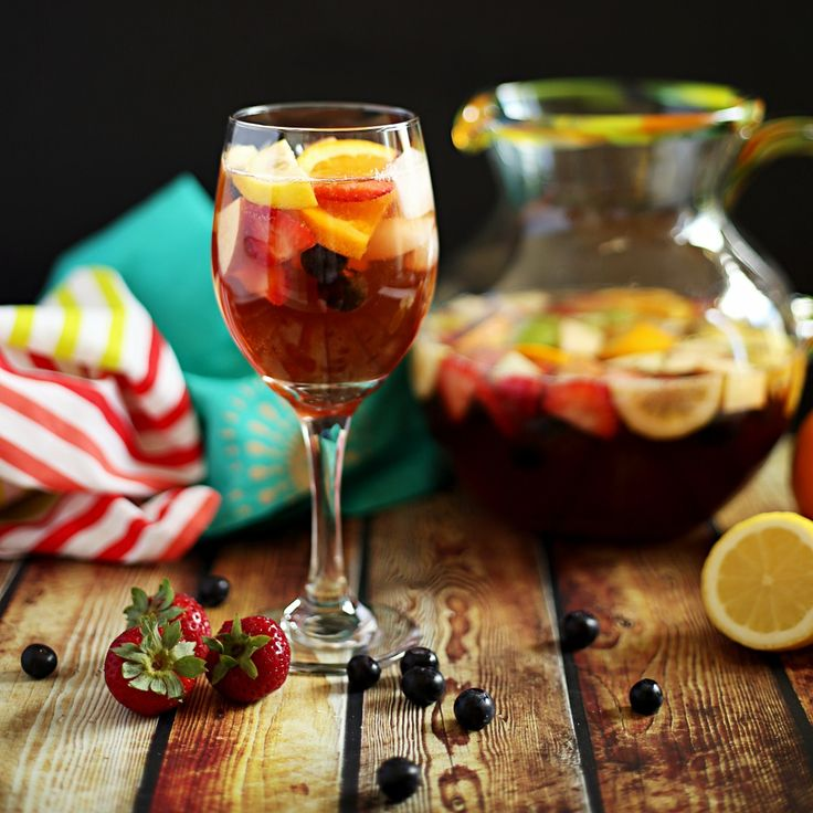 Sangria is light and refreshing but sometimes you have to nix the booze. My non-alcoholic sangria is perfect for a baby shower, kids party, or just because.