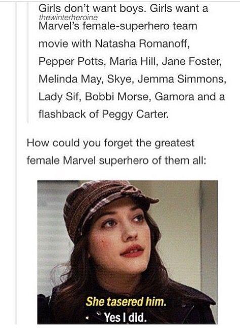 girls want a Marvel's female-superhero team movie! (And I'm betting, so do guys) ;)