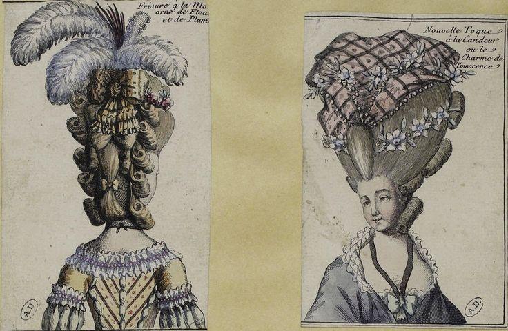 Women's Hairstyles & Cosmetics of the 18th Century: France & England, 1750-1790 – Démodé