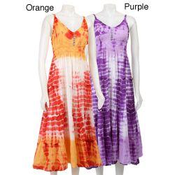 Sundresses+for+Women+Over+50 | Jessica Taylor Women's Tie-dye Sundress