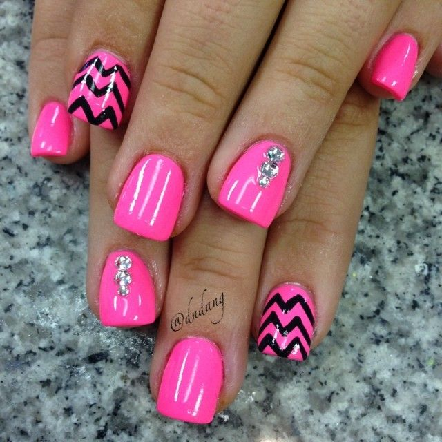 17 Best Ideas About Hot Pink Nails On Pinterest