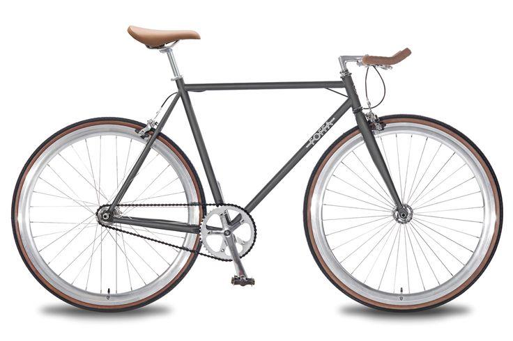 Single Speed Fixed Gear Fixie Grey Foffa Bicycle