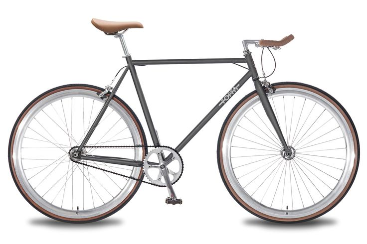 Single Speed Fixed Gear Fixie Grey Foffa Bicycle