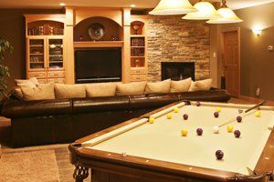 45 Best Finished Basement Ideas Images On Pinterest