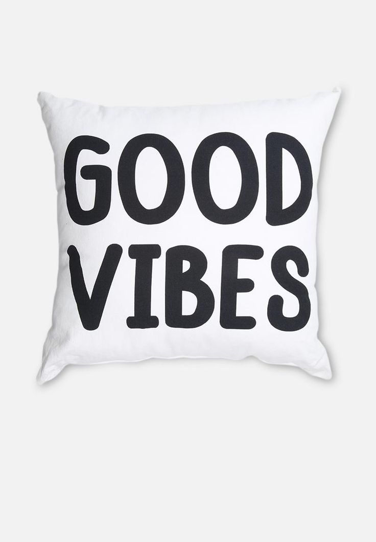 Make yourself at home and enjoy the good vibes. Add a full dose of typographical fun to your space with this monochrome embroidered scatter cushion, a design that will will breathe fresh life to your living area.