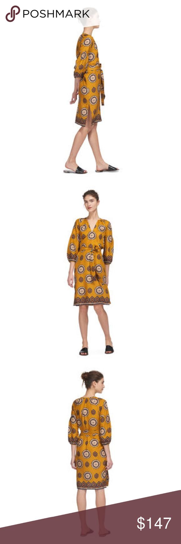 Whistles Dress Tahlia Surya Print Silk Dress 100% Silk Whistles Dresses Midi