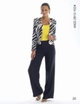 Women's Zebra Print Three-Piece Suit