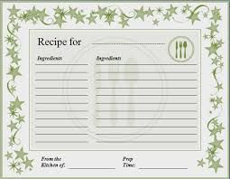 Image result for microsoft word recipe card template