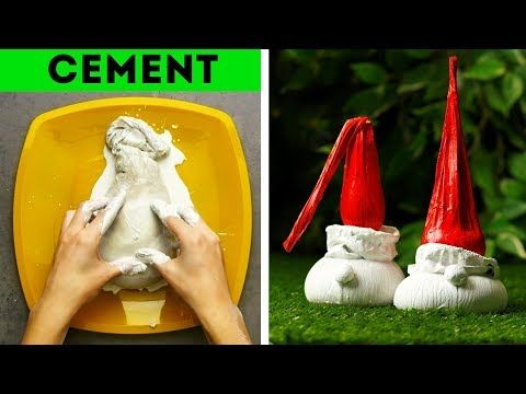 10 Fun Diy Cement Ideas For Your House Youtube 5 Minute