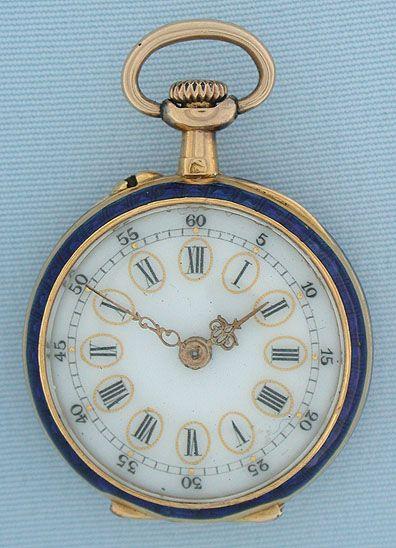 Antiguos relojes de bolsillo - LeCoultre miniatura esmalte # 5907 LeCoultre miniatura esmalte