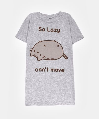 So Lazy Pusheen ladies junior T-shirt
