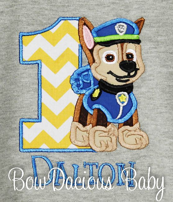 Gray Paw Patrol Birthday Shirt or Onesie, Custom, Any Age