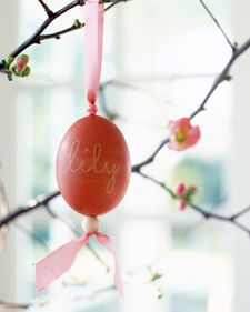 Beaded egg ornamentEaster Tree, Eggs Ornaments, Rosehip, Rose Hip, Martha Stewart, Easter Eggs, Eggs Cartons, Eggs Decor, Easter Ideas