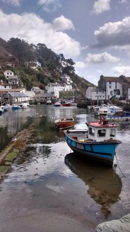 'Polperro Harbour' - Cornwall, England.. . . . pinned 12 Mar 2016