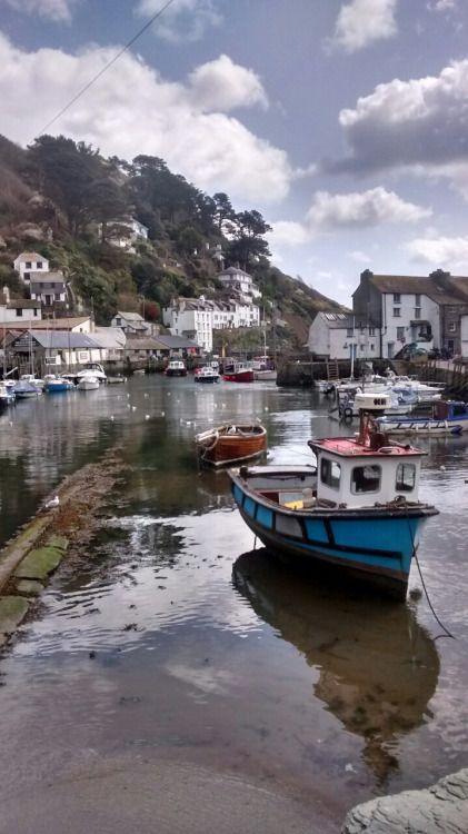 'Polperro Harbour' - Cornwall, England.. . . . pinned 12 Mar 2016