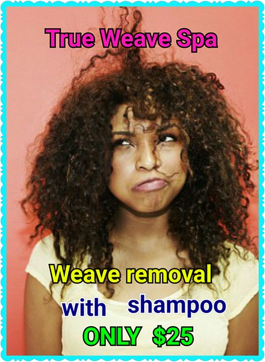 Tired of taking your own Weave out? Take advantage of our special ONLY $25 for removal w/ shampoo when you get a new weave installed!!! BE ONE OF THE FIRST 20 PEOPLE TO REDEEM THIS SPECIAL!!! TAG A FRIEND!!! 757-587-1234 OR VISIT http://www.trueweavespa.com**** #hair #goodhair #brazilian #brazilianhair #vixen #vixensewin #laceclosure #closure #360closure #frontal #lacefrontal #weave #sewin #cheaphair #bundles #bob #anglebob #naturalhair #teamnatural #protectivestyle #hairstyle #trueweavespa…