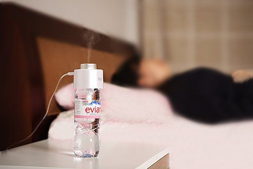 Amazing Portable Humidifier & Mist...USB powered and turns any water bottle into a humidifier! We needed this in Vegas!