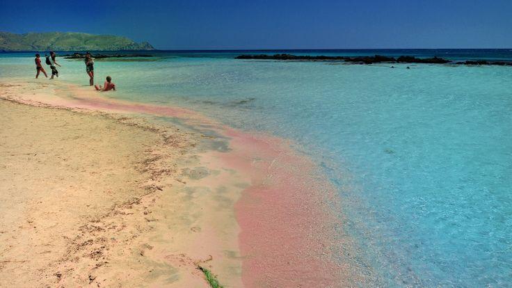 Elafonissi beach with pink sand, Crete