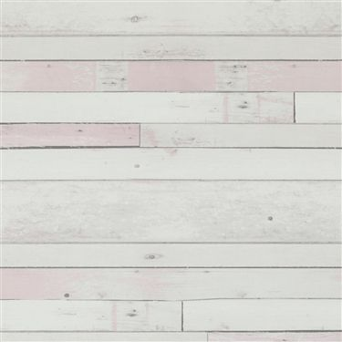 Pastel Pink faux wood stained plank home wallpaper R2586