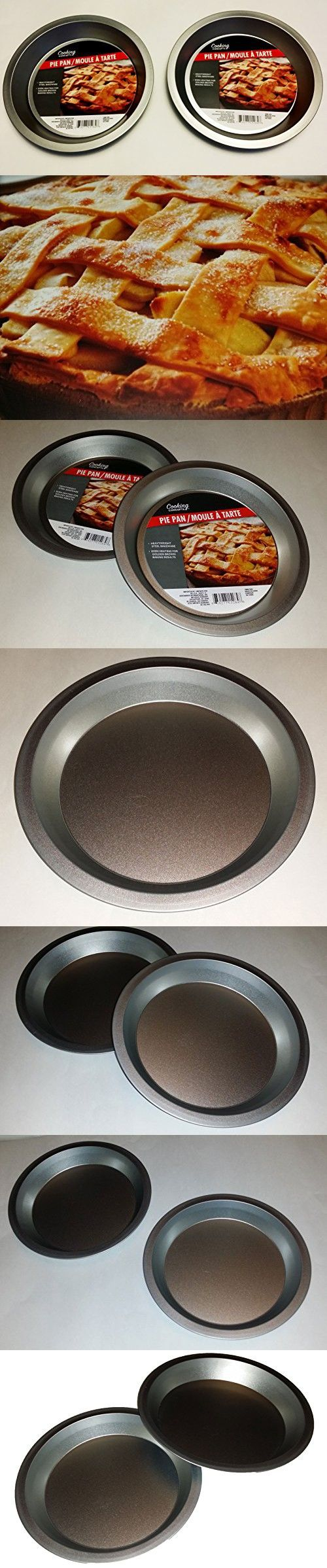 Two 9 inch Pie Pans a Heavy weight steel none stick bakeware set with even heating & 257 best Pie Pans images on Pinterest | Tortillas Pie and Pies