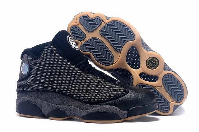 c06e89f2029d 2018 的 Fashion Air Jordan 13 XIII QUAI 54 Black Gold Discount Sale ...