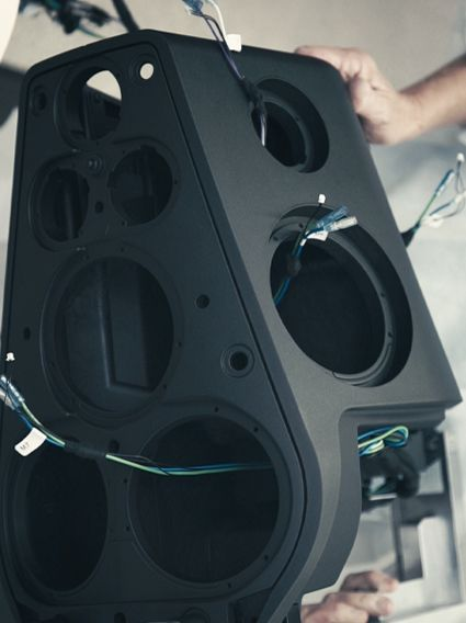 BeoLab 90 is the Bang & Olufsen's High End Loudspeaker: we like to think about it as the Future of Sound, the wild dream of our acoustic department.