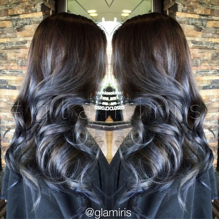 Smokey gray blue balayage ombre #glamiris | Hair | Dyed ...