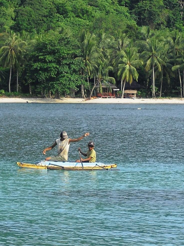 Father and his son, a fishermen tandem! at Teluk Kiluan, Lampung.