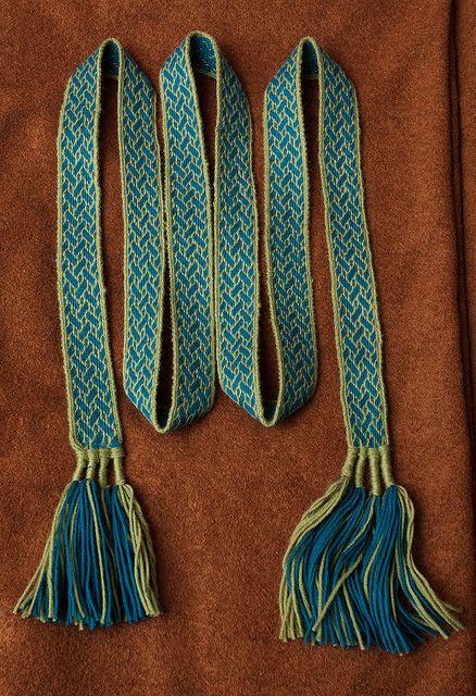 Belt using Birka strapwork motif by Leonid Prokopchuk