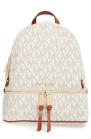 MICHAEL Michael Kors 'Small Rhea Zip' Leather Backpack available at #Nordstrom