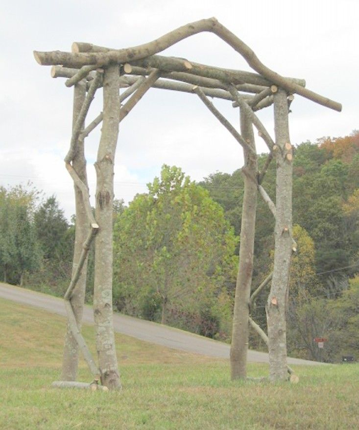 17 Best images about Rustic Log Arbors and Arches on our