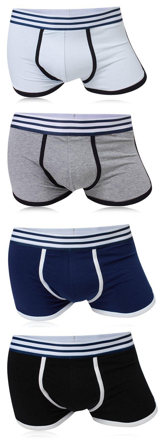 Sport Cotton Breathable Soft Mid Waist U Convex Pouch Boxers for Men