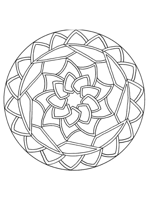 print coloring image free printable coloring pagescolor artpaper artmandala - Art Therapy Coloring Pages Mandala