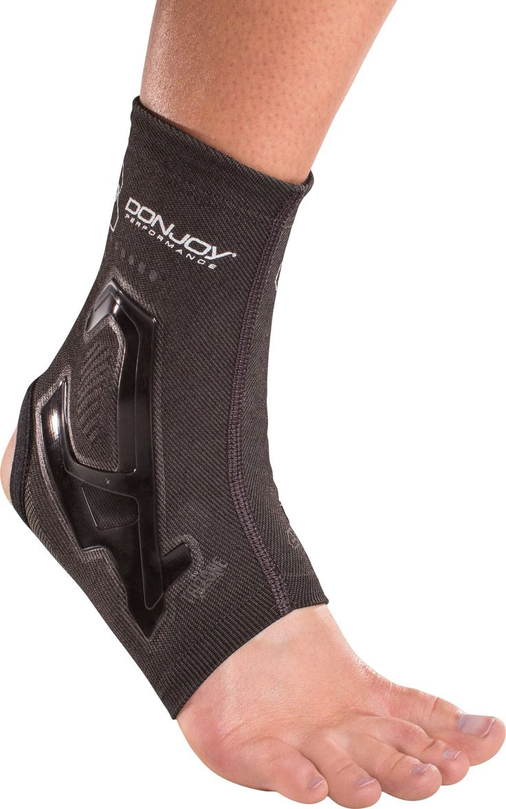DonJoy Performance TRIZONE Compression: Ankle Support Brace, Black, Medium. Three zones of compression strategically placed around the ankle to deliver peak performance. Silicone banding injected directly onto the sleeve adds medial/lateral support to sprained ligaments, strained tendons and weak ankles. All-natural carbonized bamboo is thermal regulating and anti-bacterial helping eliminate odors. Comfortably fits in all shoe types. Reflectivity for enhanced visibility in low light…