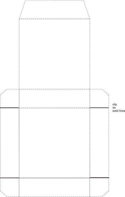 Patrón de caja cuadrada delgada