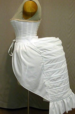 "Big ""lobster tail"" bustle ca 1880s"