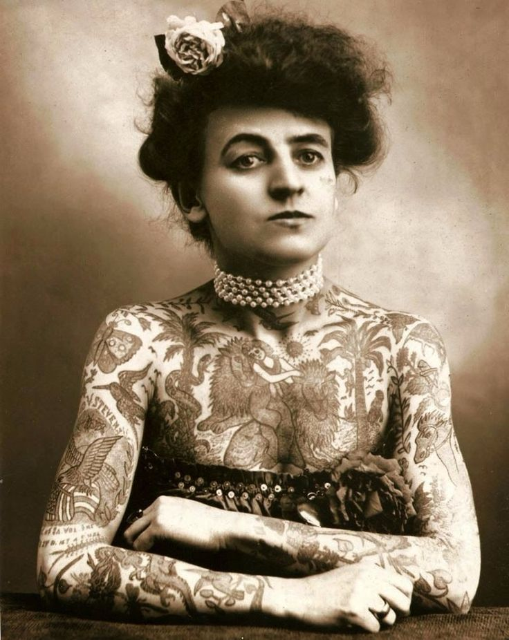 Meet Maud Wagner: The United States' First Known Female Tattoo Artist